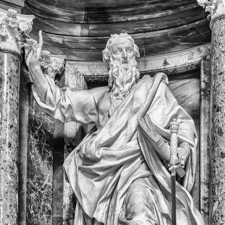 Statue of St. Paul at the Basilica of St. John Lateran in Rome. photo