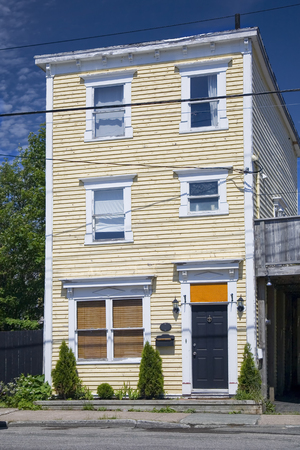 nfld: The unique architecture of the homes in downtown St. Johns, Newfoundland, Canada. Stock Photo