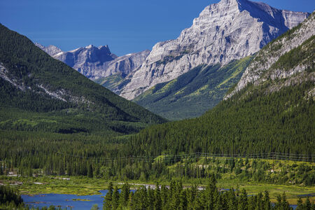 provincial forest parks: The beautiful scenery of Kananaskis country in Alberta, Canada. Stock Photo