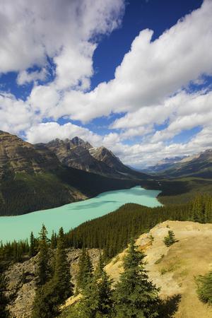 caldron: Peyto Lake   Caldron Peak, Banff National Park, Alberta, Canada  Stock Photo