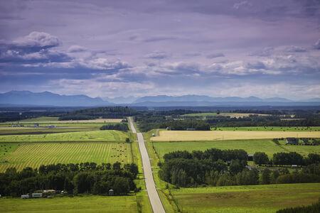 wide open spaces: Wide open spaces of rural Alberta, Canada.