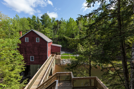 social history: Balmoral Mill is an old grist mill open to the public as a museum in Nova Scotia, Canada Editorial