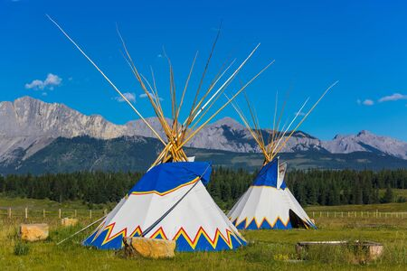 Authentic tepee of Native North Americans Stock Photo