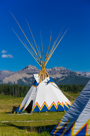 tepee: Authentic tepee of Native North Americans Stock Photo