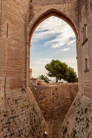 Bellver Castle is a gothic style castle close to the the city of Palma on the island of  Majorca, Spain