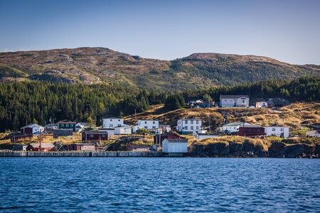 Seaside community in rural Newfoundland, Canada. Stock Photo