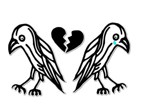 corazon roto: Divorcio Ilustraci�n