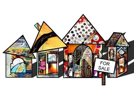 주택 시장의 그림