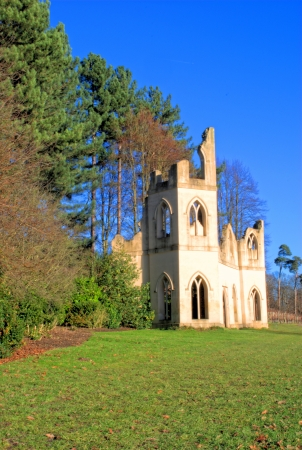 neo gothic: Castle Folly at Pains Hil Park Surrey UK Stock Photo