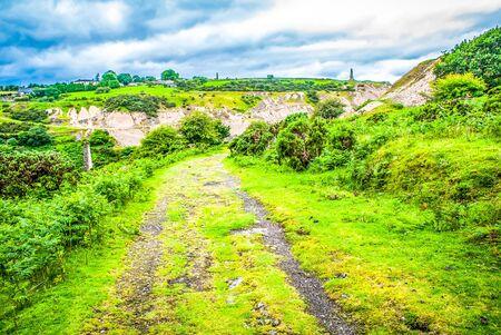 Track leading across Bodmin Moor Cornwall, England, UK