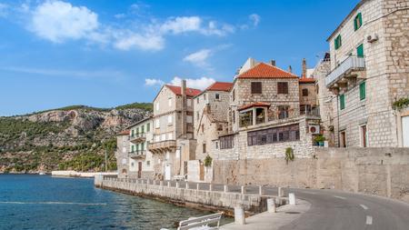Scenic view in Komiza village, a city on the island of Vis in the Adriatic sea, Croatia. Reklamní fotografie