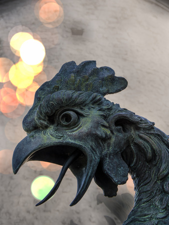 Close up view of a dragons statues head in the old Trsat castle. Rijeka Croatia. Reklamní fotografie