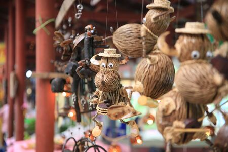 Souvenirs are made of bark and wood