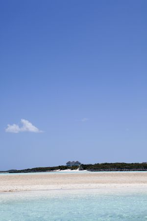 View of an island in the Caribbean from a boat
