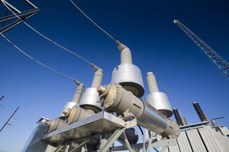 Close up de cableado el�ctrico en una aplicaci�n industrial  Foto de archivo