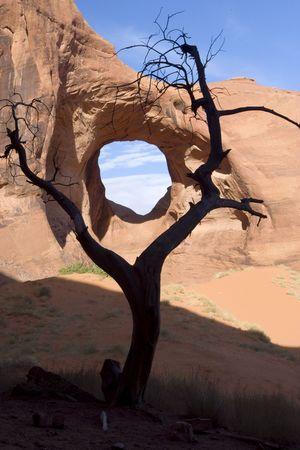 Viento de piedra arenisca en Utah de Monument Valley  Foto de archivo