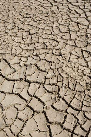 Dried mud on the shore of the Salton Sea in California