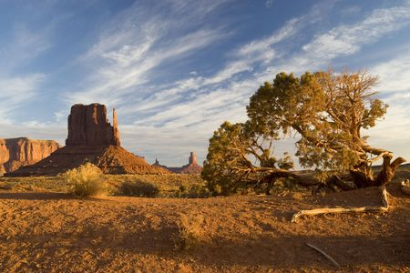 Monument Valley on the Navajo reservation in Utah Stock Photo