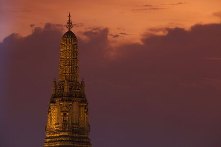 Scene around the Wat Arun temple in Bangkok Thailand.