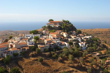 The town of Ioulis on the Greek island of Kea is built on the high ground above the port of Korissia. photo