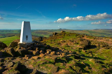 Trigg Point, The highest point on top of The Roaches. The Peak District, Derbyshire, UK.