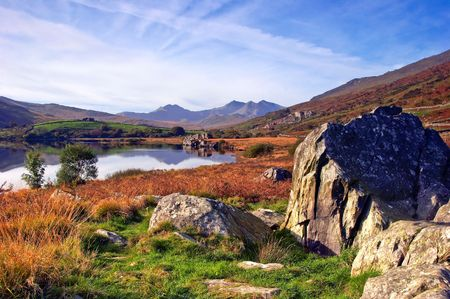 The Autumn colours of the Snowdonia National Park.