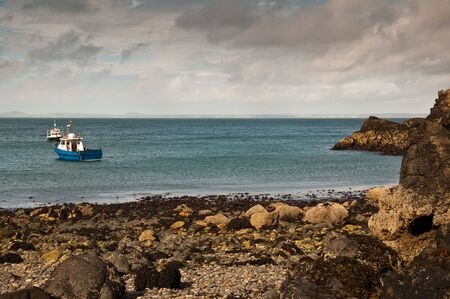 The small bay at Martins Haven, Pembrokeshire, West Wales. Stock Photo