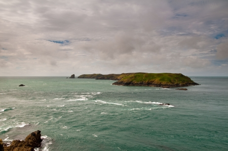The wildlife haven of Skomer Island, Pembrokeshire, Wales. Stock Photo