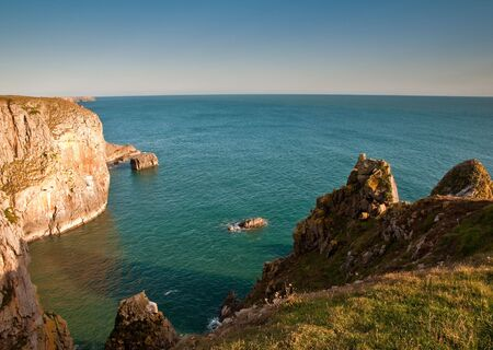 The rugged Pembrokeshire coast in Wales, UK.