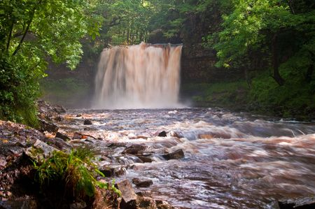 One of a number of waterfalls situated around the village of Ystradfellte, in Wales. UK. Stock Photo