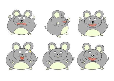 emozioni: topo grasso tante emozioni Vettoriali