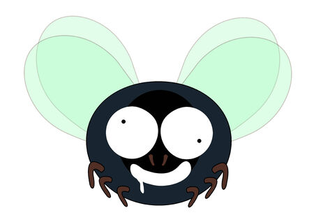 crave: dizzy hungry mad fly cartoon