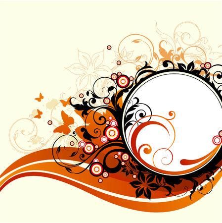 floral frame Ilustrace