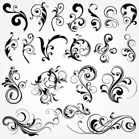 éléments de design floral Vecteurs