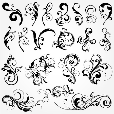 decorative: floral design elements