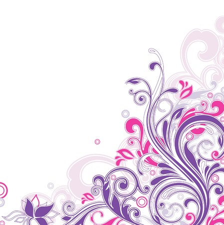 twirls: floral background