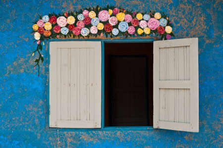 Colorful wall decoration of a mud house Stock Photo - 9601385