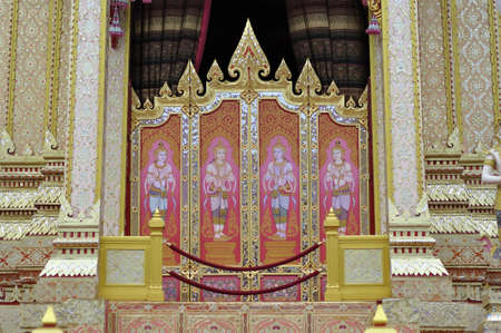 pyre: Partition in the royal crematory, Thailand