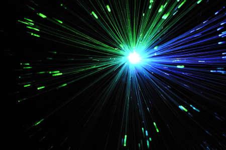 fiber optic lamp: Light from fiber optic lamp