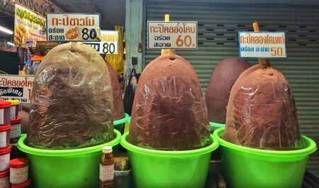 thai food: Shrimp paste, dried food, Thai food