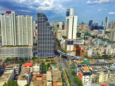 silom: City, Bangkok Stock Photo