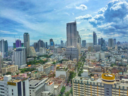 silom: Cityscape Stock Photo