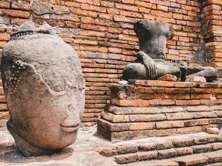 ayuttaya: Head and body of bhuddha image
