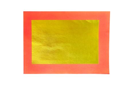 Gouden en rode papieren achtergrond, grafische creatieve abstracte Chinese gouden papieren gebruik voor maken offer aan goden Joss Paper Chinese traditie voor overleden Voorouder geesten Stockfoto