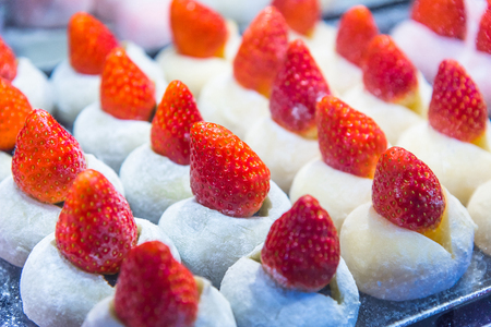 Matcha with fresh Strawberry DaifukuAzuki Red Bean Strawberry DaifukuTokyo sweet Hokkaido Snow Strawberry Daifuku