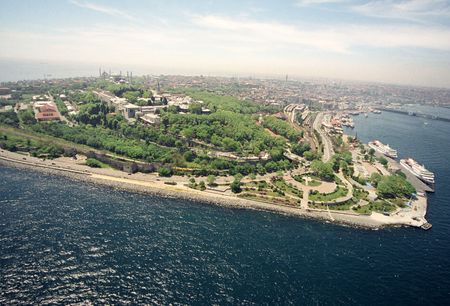 topkapi palace from air photo