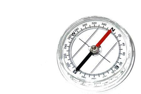 leading the way: Compas isolato su bianco