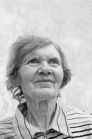 eighties: Great Grandmother.Woman in her eighties.