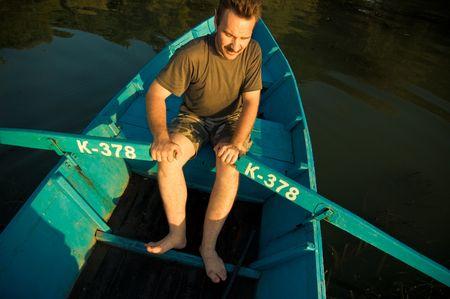 boatman: russian boatman Stock Photo
