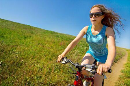 girl biking Stock Photo - 3849161